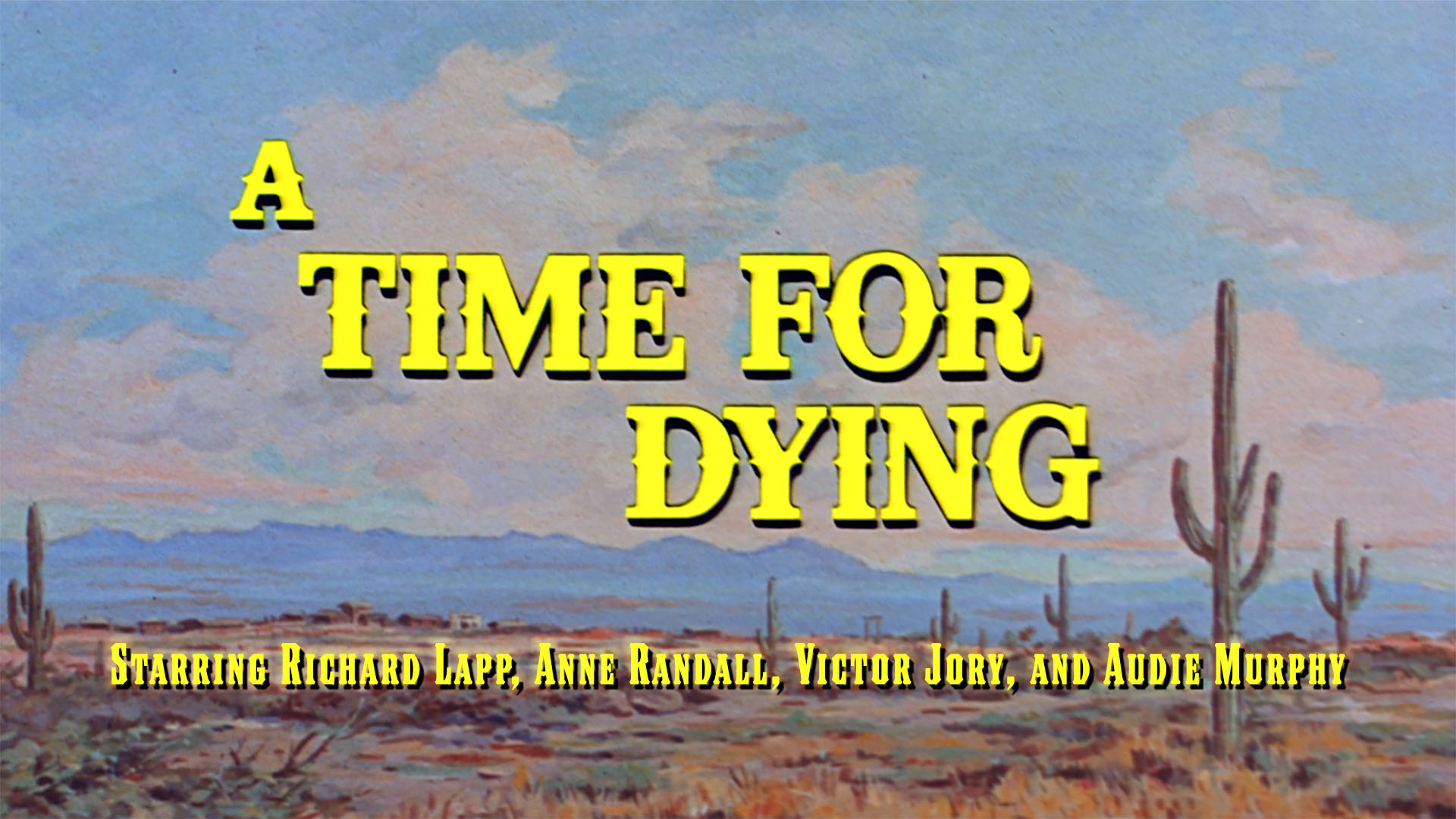 A Time For Dying on Amazon